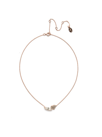 Hart Pendant Necklace in Rose Gold-tone Crystal