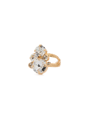 Crystal Assorted Rounds Ring in Bright Gold-tone Crystal