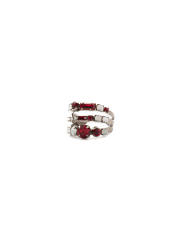 Triple Threat Ring in Antique Silver-tone Crimson Pride