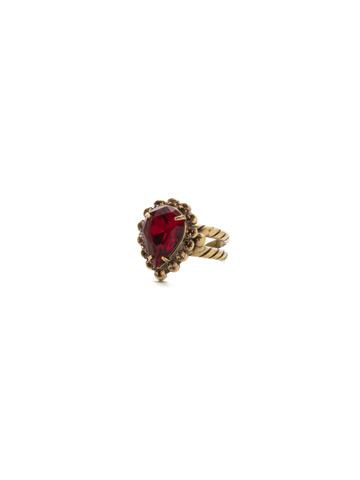 Simply Adorned Pendant in Antique Gold-tone Go Garnet