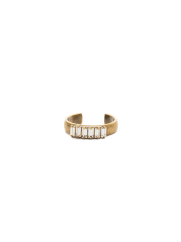 Band Together Adjustable Ring in Antique Gold-tone Crystal
