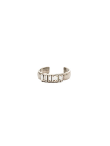 Band Together Adjustable Ring in Antique Silver-tone Crystal