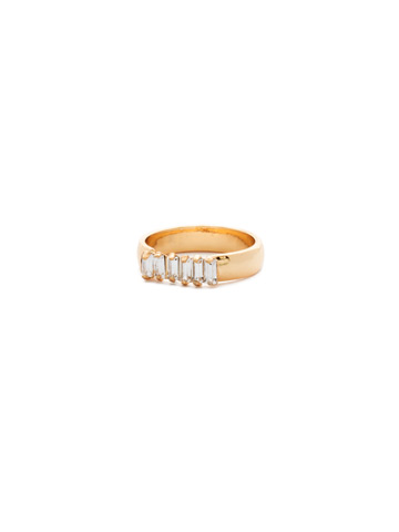 Band Together Ring in Bright Gold-tone Crystal
