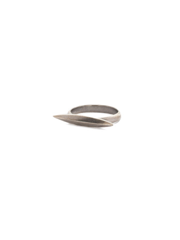 Pointedly Pretty Ring in Antique Silver-tone Crystal