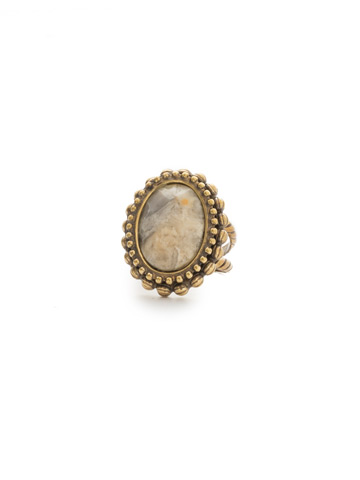 Flora Ring in Antique Gold-tone Washed Waterfront