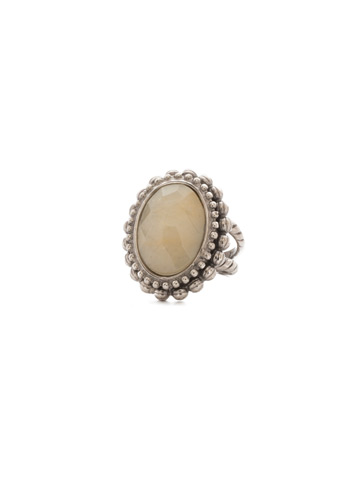 Flora Ring in Antique Silver-tone Mirage