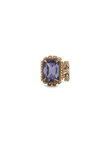 Protea Ring in Antique Gold-tone Jewel Tone