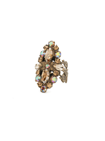 Edelweiss Ring in Antique Gold-tone Neutral Territory