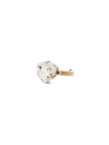 Perfectly Pretty Ring in Antique Gold-tone Crystal