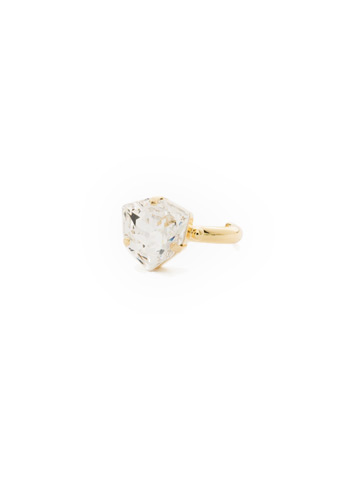 Perfectly Pretty Ring in Bright Gold-tone Crystal