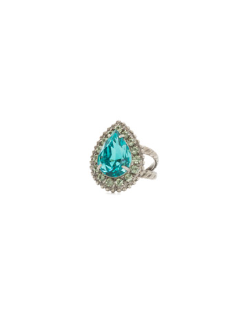 Arum Ring in Antique Silver-tone Vivid Horizons