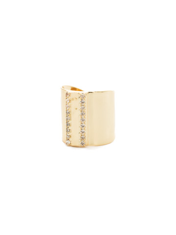 All Lined Up Ring in Bright Gold-tone Crystal