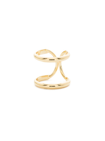 Running In Circles Ring in Bright Gold-tone Crystal