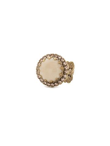 Ballota Ring in Antique Gold-tone Sandstone