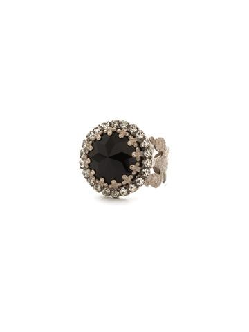 Ballota Ring in Antique Silver-tone Black Tie