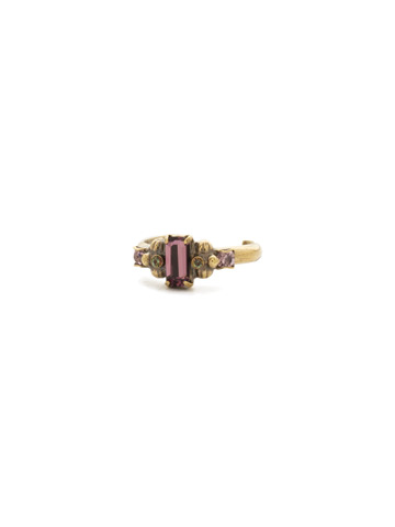 Fescue Ring in Antique Gold-tone Royal Plum