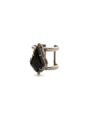 Hawthorn Ring in Antique Silver-tone Black Tie
