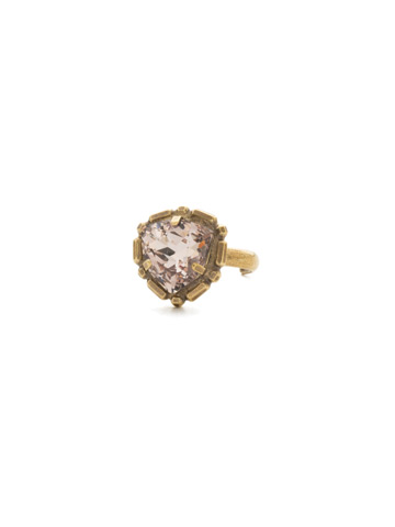Primula Ring in Antique Gold-tone Sandstone