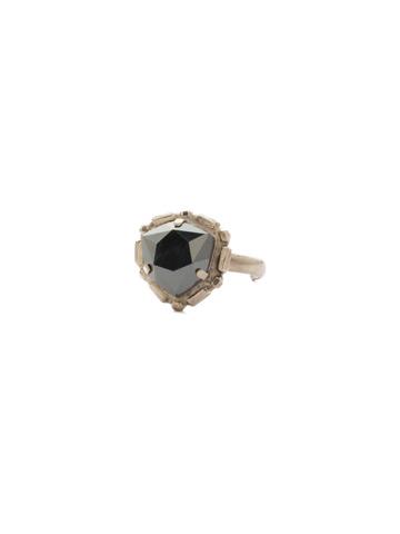 Primula Ring in Antique Silver-tone Black Tie