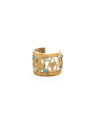 Lavanda Cuff Ring in Antique Gold-tone Driftwood