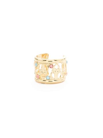 Lavanda Cuff Ring in Bright Gold-tone Mango Tango