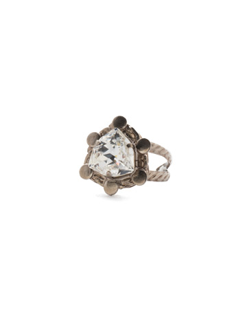 Edy Ring in Antique Silver-tone Crystal