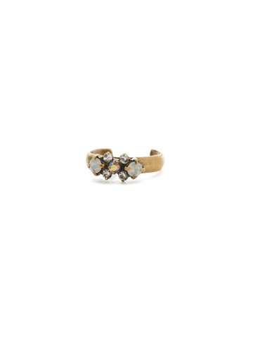 Lush Band Ring in Antique Gold-tone Rocky Beach