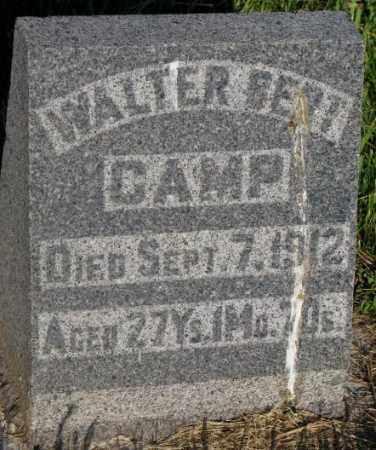 CAMP, WALTER BERT - Aurora County, South Dakota | WALTER BERT CAMP - South Dakota Gravestone Photos