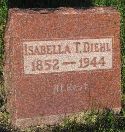 DIEHL, ISABELLA T. - Aurora County, South Dakota   ISABELLA T. DIEHL - South Dakota Gravestone Photos