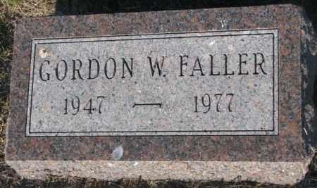 FALLER, GORDON W. - Aurora County, South Dakota   GORDON W. FALLER - South Dakota Gravestone Photos