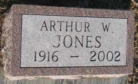 JONES, ARTHUR W. - Aurora County, South Dakota | ARTHUR W. JONES - South Dakota Gravestone Photos