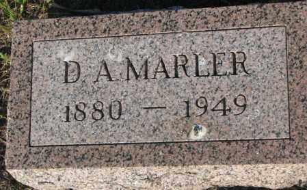 MARLER, D.A. - Aurora County, South Dakota | D.A. MARLER - South Dakota Gravestone Photos