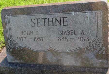 SETHNE, MABEL A. - Aurora County, South Dakota | MABEL A. SETHNE - South Dakota Gravestone Photos