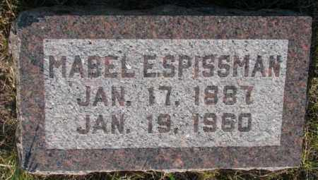 SPISSMAN, MABEL E. - Aurora County, South Dakota | MABEL E. SPISSMAN - South Dakota Gravestone Photos