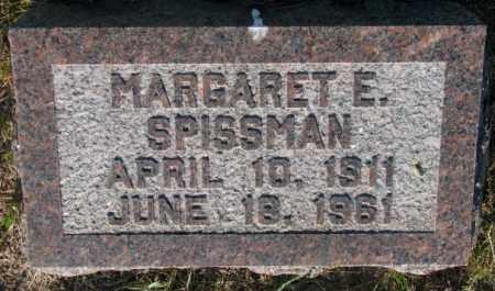 SPISSMAN, MARGARET E. - Aurora County, South Dakota   MARGARET E. SPISSMAN - South Dakota Gravestone Photos
