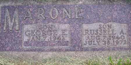 MARONE, RUSSELL A. - Beadle County, South Dakota | RUSSELL A. MARONE - South Dakota Gravestone Photos