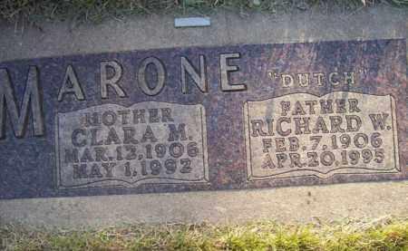 MARONE, RICHARD W. (DUTCH) - Beadle County, South Dakota | RICHARD W. (DUTCH) MARONE - South Dakota Gravestone Photos