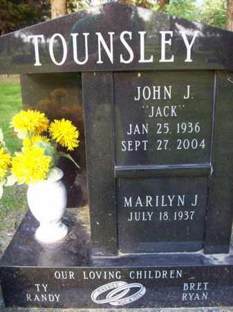 TOUNSLEY, JOHN J. (JACK) - Beadle County, South Dakota   JOHN J. (JACK) TOUNSLEY - South Dakota Gravestone Photos