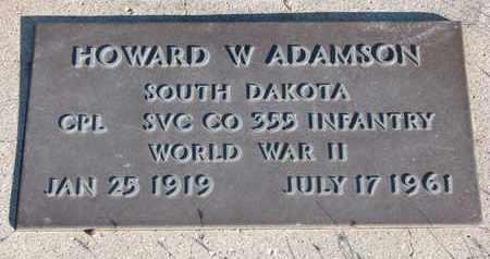 ADAMSON, HOWARD W. - Bon Homme County, South Dakota | HOWARD W. ADAMSON - South Dakota Gravestone Photos