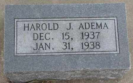 ADEMA, HAROLD J. - Bon Homme County, South Dakota | HAROLD J. ADEMA - South Dakota Gravestone Photos