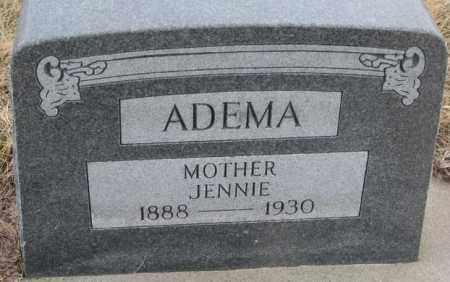 ADEMA, JENNIE - Bon Homme County, South Dakota | JENNIE ADEMA - South Dakota Gravestone Photos