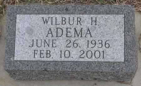 ADEMA, WILBUR H. - Bon Homme County, South Dakota | WILBUR H. ADEMA - South Dakota Gravestone Photos