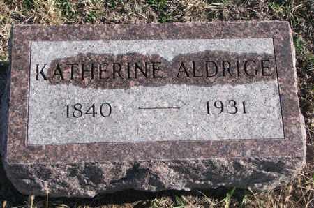 ALDRIDGE, KATHERINE - Bon Homme County, South Dakota   KATHERINE ALDRIDGE - South Dakota Gravestone Photos