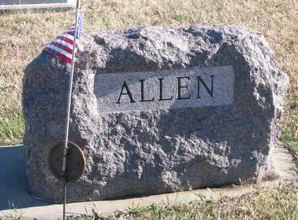 ALLEN, FAMILY STONE - Bon Homme County, South Dakota | FAMILY STONE ALLEN - South Dakota Gravestone Photos