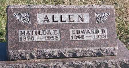 ALLEN, EDWARD D. - Bon Homme County, South Dakota | EDWARD D. ALLEN - South Dakota Gravestone Photos
