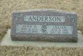 ANDERSON, LILLIAN - Bon Homme County, South Dakota | LILLIAN ANDERSON - South Dakota Gravestone Photos