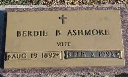 ASHMORE, BERDIE B. - Bon Homme County, South Dakota   BERDIE B. ASHMORE - South Dakota Gravestone Photos