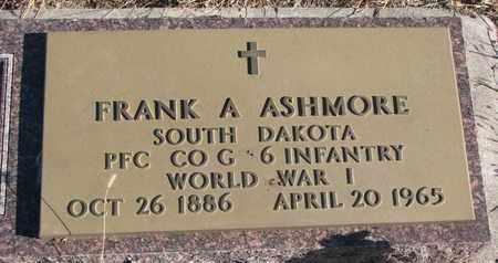 ASHMORE, FRANK A. - Bon Homme County, South Dakota   FRANK A. ASHMORE - South Dakota Gravestone Photos