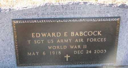 BABCOCK, EDWARD E. (WW II) - Bon Homme County, South Dakota   EDWARD E. (WW II) BABCOCK - South Dakota Gravestone Photos