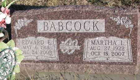 BABCOCK, EDWARD E. - Bon Homme County, South Dakota | EDWARD E. BABCOCK - South Dakota Gravestone Photos